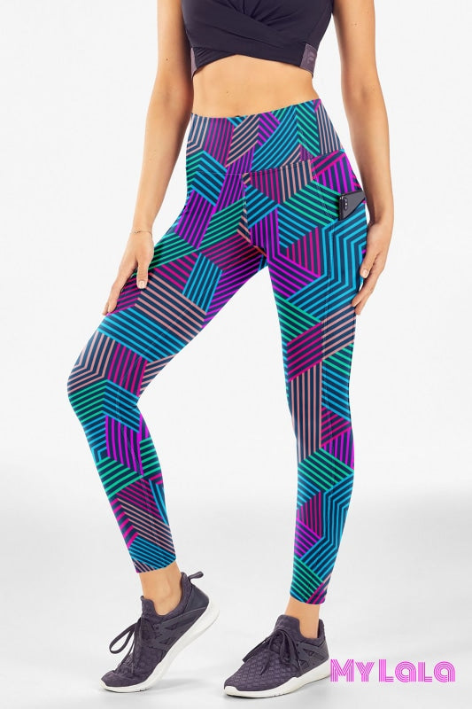 Extra Curvy Pocketed Legging 20-26 (Tron) - My Lala Leggings, soft leggings, buttery soft leggings, one size leggings