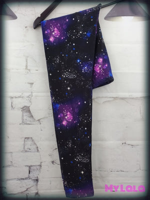 Extra Curvy Purple Galaxy (24-32) - My Lala Leggings, soft leggings, buttery soft leggings, one size leggings