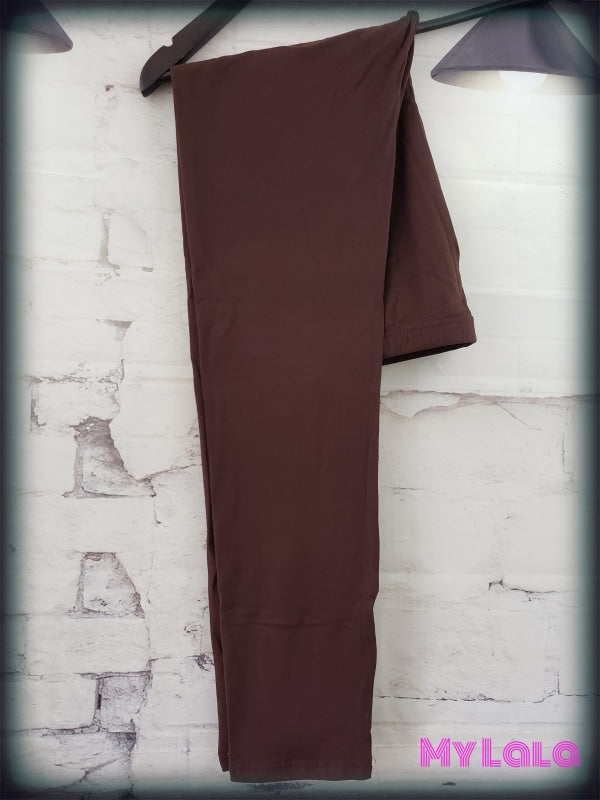 Extra Curvy Solid Brown (20-26) - My Lala Leggings
