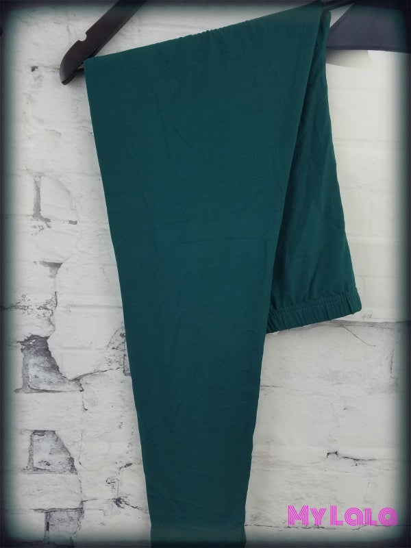 Extra Curvy Solid Forest Green (20-26) - My Lala Leggings, soft leggings, buttery soft leggings, one size leggings