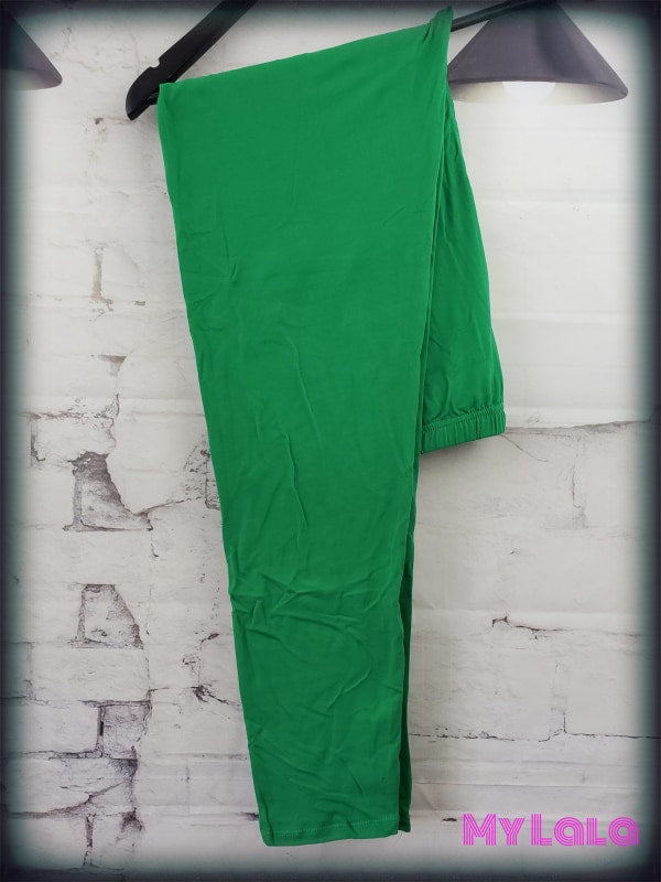 Extra Curvy - Solid Kelly Green (24-32) - My Lala Leggings, soft leggings, buttery soft leggings, one size leggings