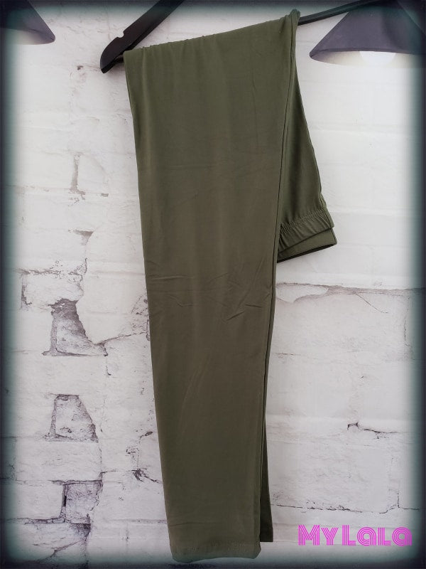 Extra Curvy Solid Olive (20-26) - My Lala Leggings, soft leggings, buttery soft leggings, one size leggings