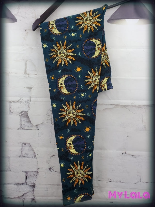 Extra Curvy Sun & Moon 24-32 - My Lala Leggings, soft leggings, buttery soft leggings, one size leggings