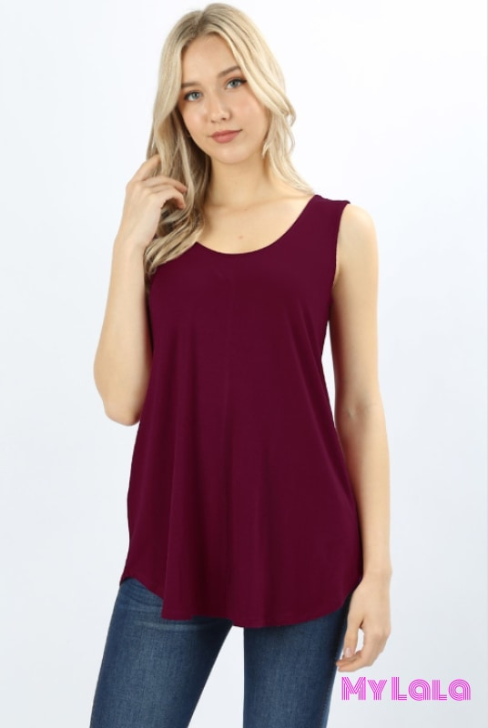 Flow Tunic Tank (Wine)