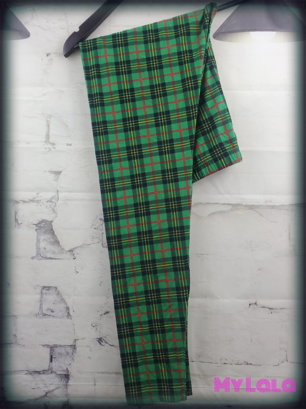 Green Plaid OS - My Lala Leggings