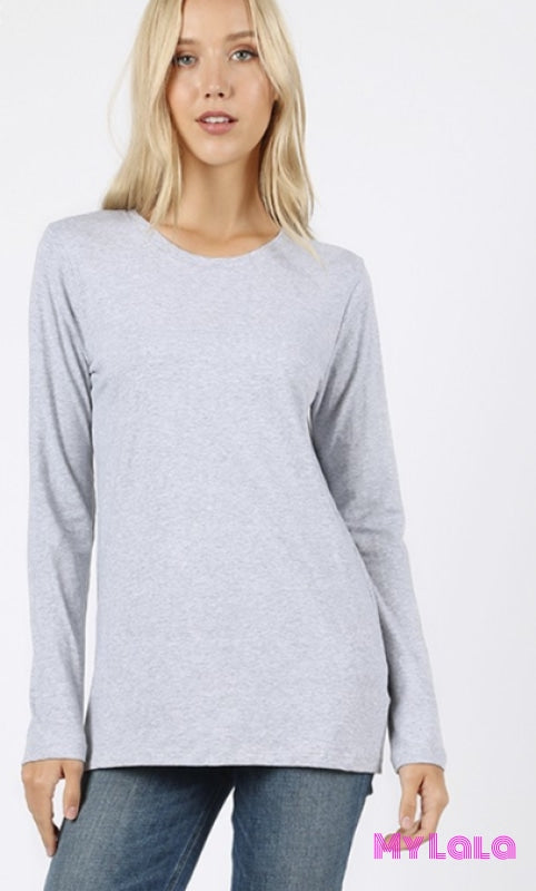 Gt 1020 Curvy Callie Crew Neck (H Grey)