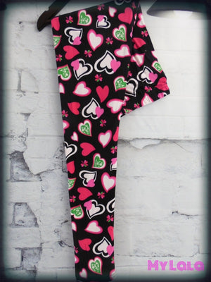 Heart Beat OS - My Lala Leggings, soft leggings, buttery soft leggings, one size leggings