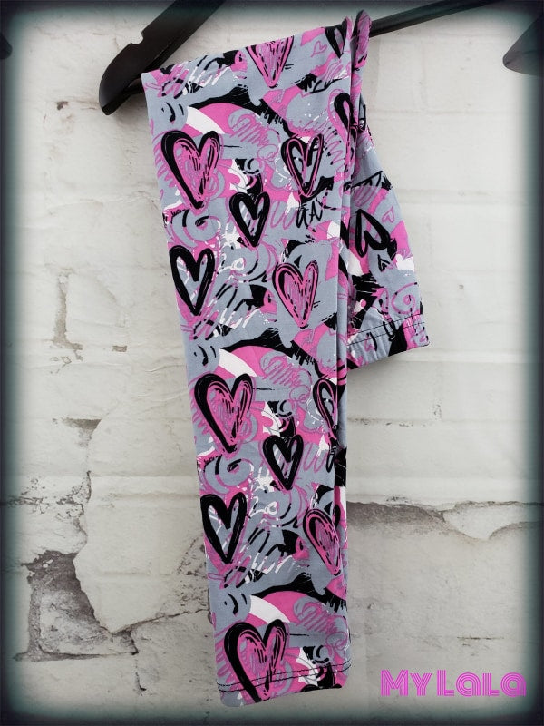 Hearts & Scribbles Kids - My Lala Leggings, soft leggings, buttery soft leggings, one size leggings