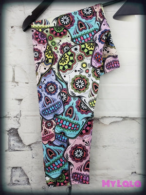 High Heat Sugar Skull Capri (10-16)
