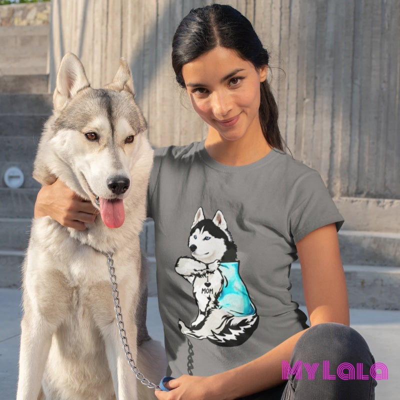 Husky I Love Mom Tee - My Lala Leggings