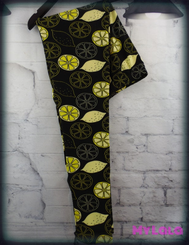 Lemon Bar OS - My Lala Leggings, soft leggings, buttery soft leggings, one size leggings