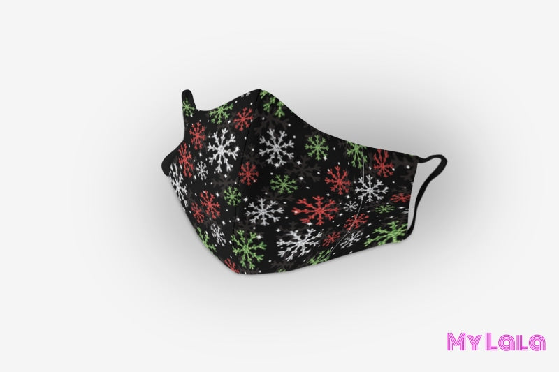 Mask - Red & Green Snow (Premium) - My Lala Leggings