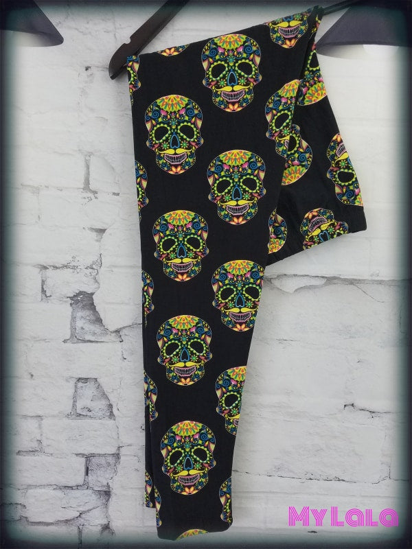 Neon Skull OS - My Lala Leggings, soft leggings, buttery soft leggings, one size leggings