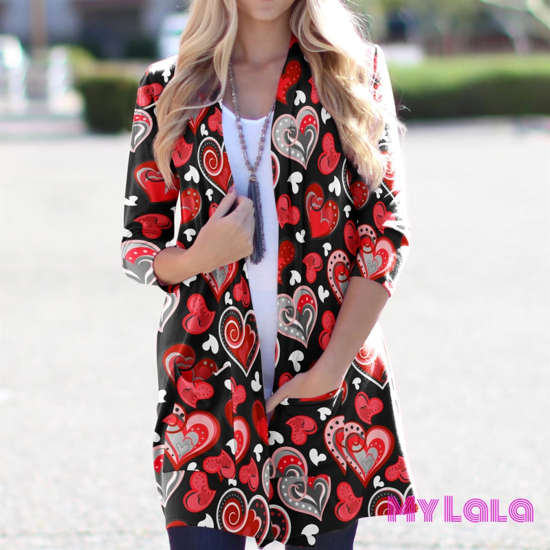 Olivia Cardigan (Red Heart) - My Lala Leggings