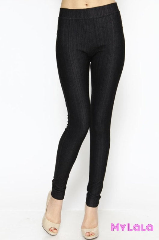 One Size Jeggings - Size 3-12 (Black)