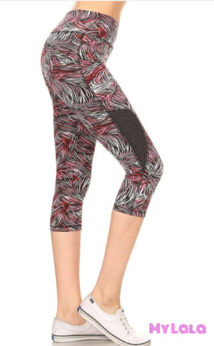 Pink Sketch Breathable Active Wear
