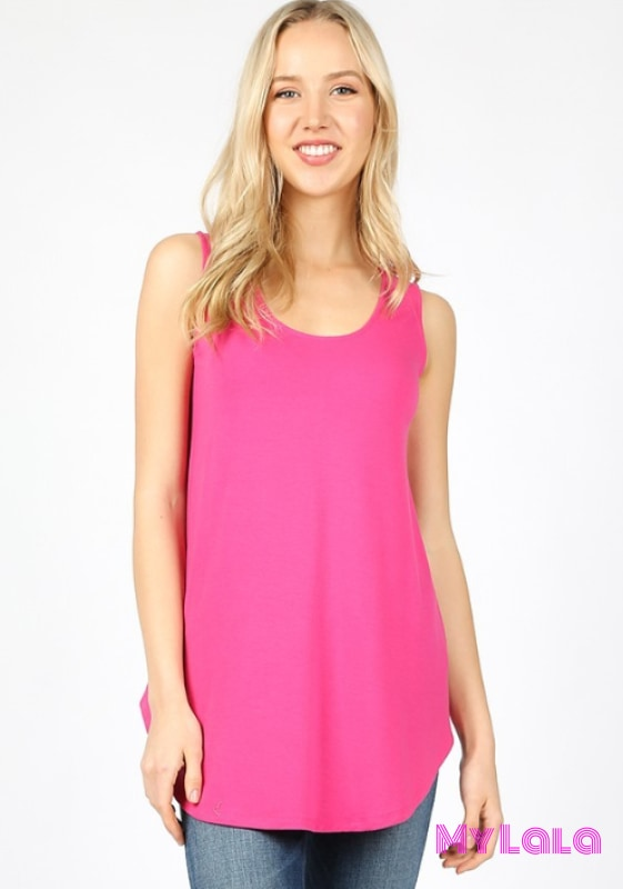 Rachel Relaxed Tunic (Hot Pink)