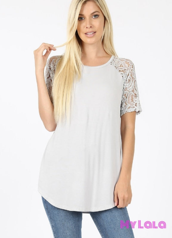 Sarah Shoulder Lace (Grey Mist)