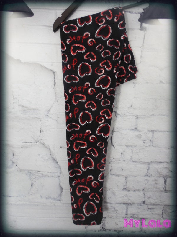 Shaded Heart OS - My Lala Leggings, soft leggings, buttery soft leggings, one size leggings