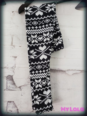 Snowflake Knit Kids - My Lala Leggings, soft leggings, buttery soft leggings, one size leggings