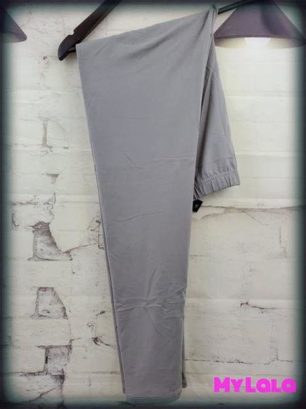 Solid Lt Grey OS - My Lala Leggings, soft leggings, buttery soft leggings, one size leggings