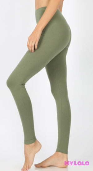 Solid Lt Olive OS - My Lala Leggings
