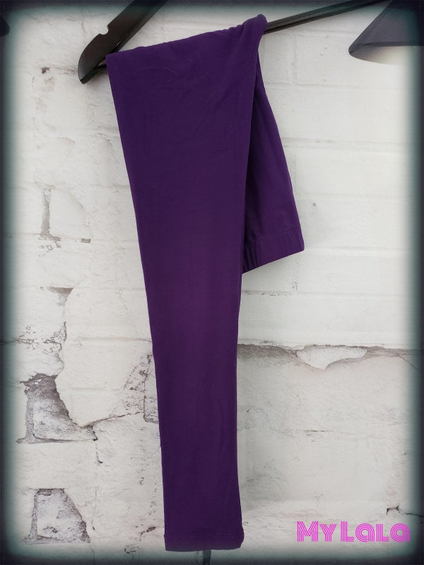 Solid Purple Kids - My Lala Leggings, soft leggings, buttery soft leggings, one size leggings