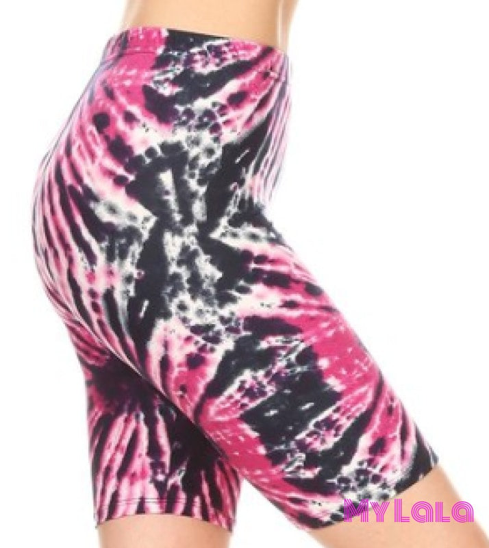 Split Splat Bike Shorts - My Lala Leggings, soft leggings, buttery soft leggings, one size leggings