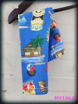 Tiki Party Baby (Premium) - My Lala Leggings, soft leggings, buttery soft leggings, one size leggings