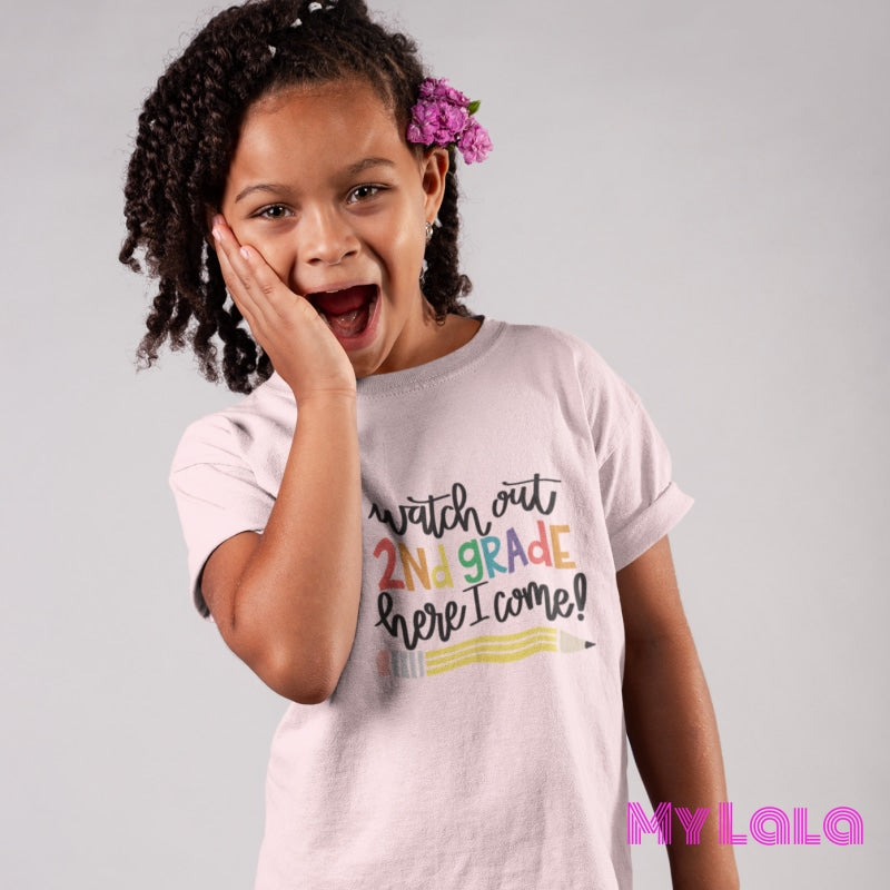 Watch out 2nd Grade KIDS Tee - My Lala Leggings, soft leggings, buttery soft leggings, one size leggings