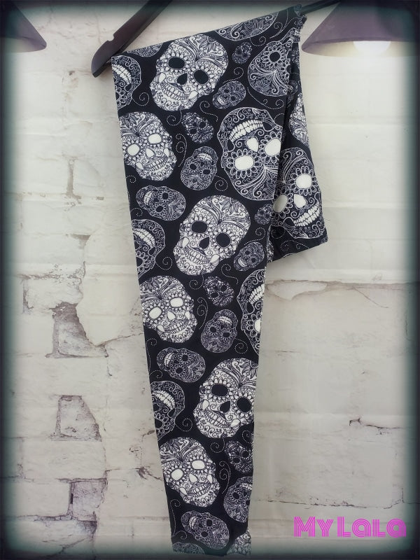 Snow Skull OS - My Lala Leggings, soft leggings, buttery soft leggings, one size leggings