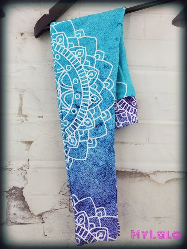 Yoga Band - Blue Ombre Kids (Premium) - My Lala Leggings, soft leggings, buttery soft leggings, one size leggings