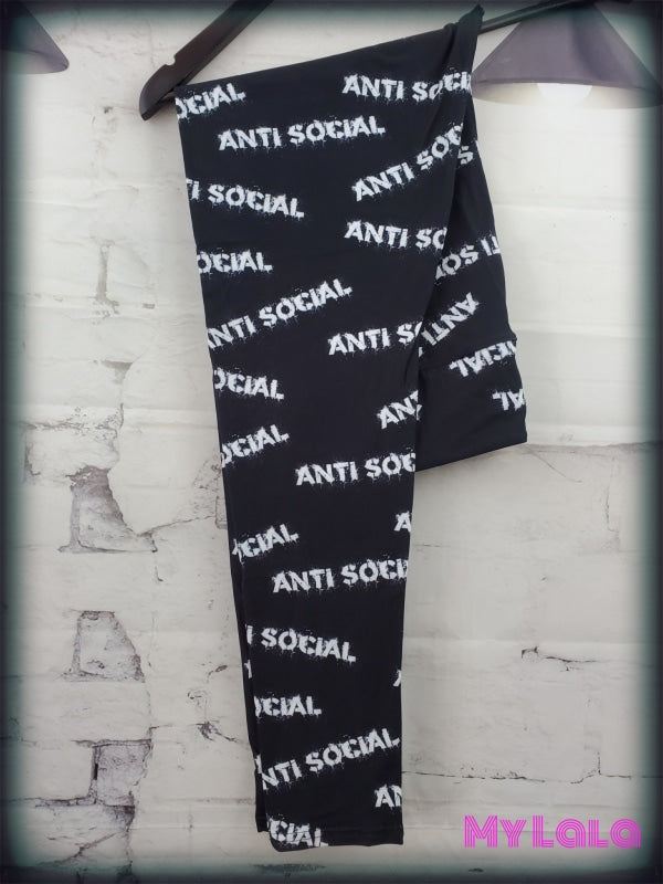 Yoga Band - Curvy Anti Social (Premium) - My Lala Leggings, soft leggings, buttery soft leggings, one size leggings