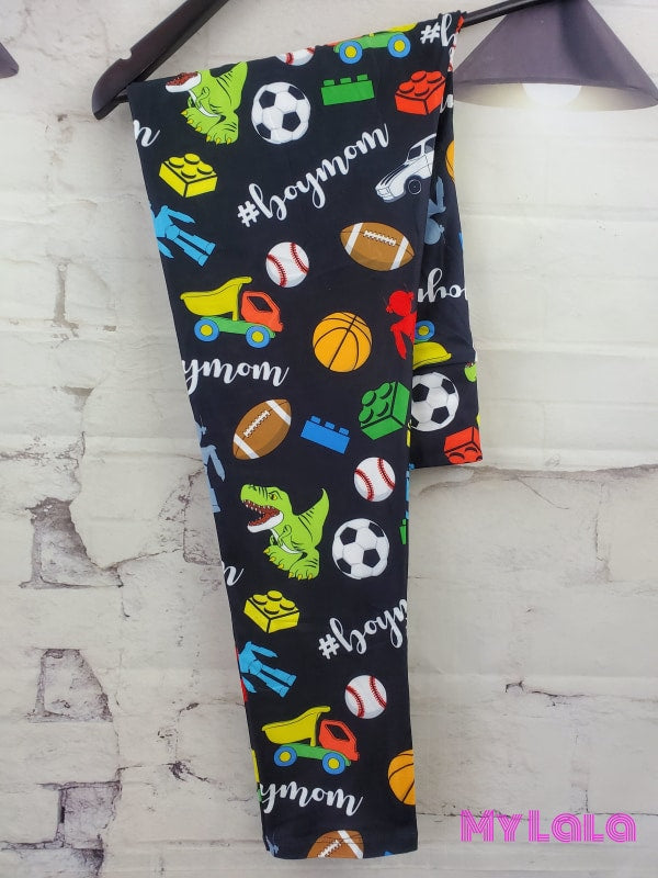 Yoga Band - Curvy Boy Mom (Premium) - My Lala Leggings, soft leggings, buttery soft leggings, one size leggings