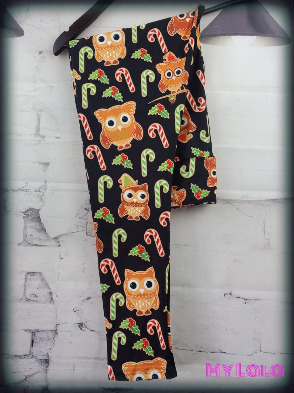 Yoga Band - Curvy Gingerbread Owls (Premium) - My Lala Leggings, soft leggings, buttery soft leggings, one size leggings