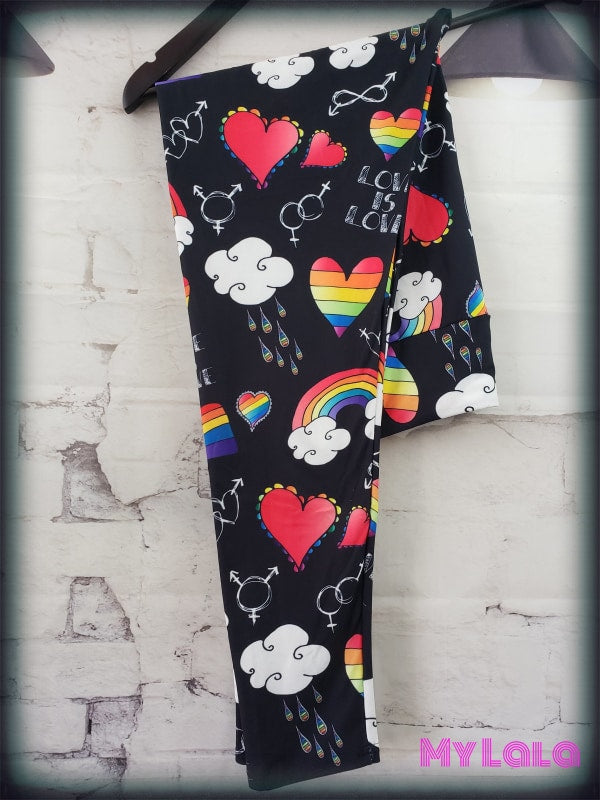 Yoga Band - Curvy Love is Love (Premium) - My Lala Leggings, soft leggings, buttery soft leggings, one size leggings