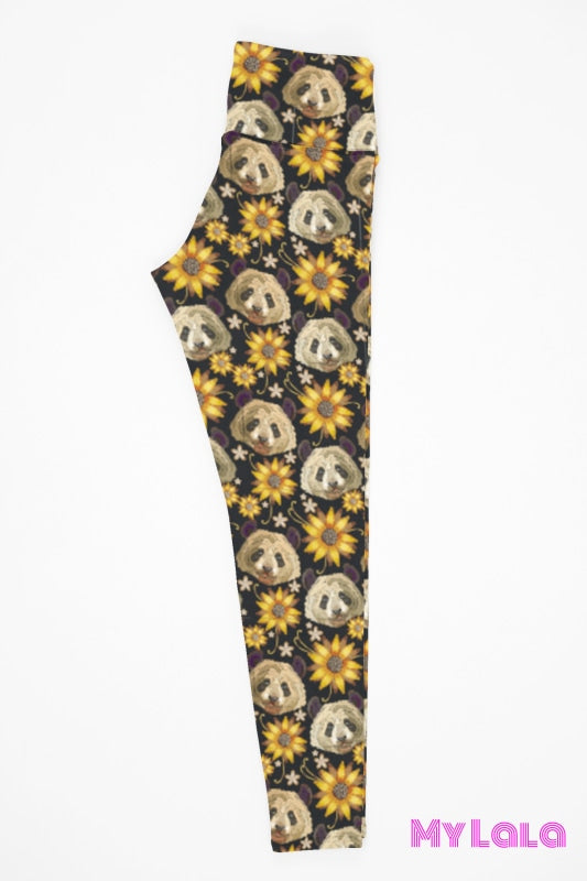 Yoga Band - Curvy Panda Flower (Premium) - My Lala Leggings