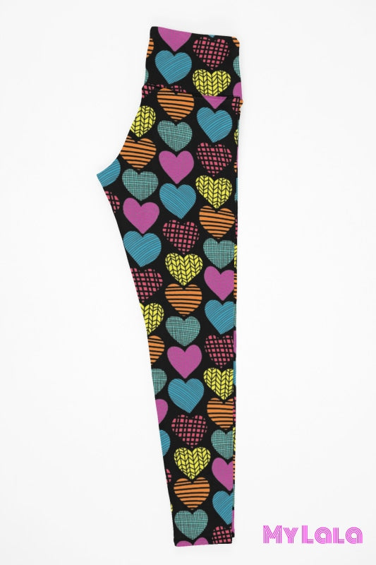 Yoga Band - Curvy Patterned Heart (Premium) - My Lala Leggings