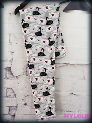 Yoga Band - Curvy Swan - My Lala Leggings, soft leggings, buttery soft leggings, one size leggings
