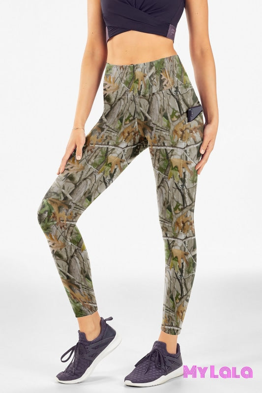Yoga Band - EC2 Pocketed Legging 24-32 (Forest Camo) - My Lala Leggings, soft leggings, buttery soft leggings, one size leggings