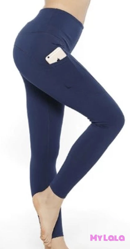 Yoga Band - Extra Curvy Pocketed Softy 20-26 (Navy) - My Lala Leggings