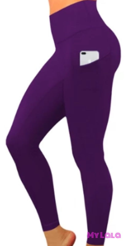 Yoga Band - Extra Curvy Pocketed Softy 20-26 (Purple)