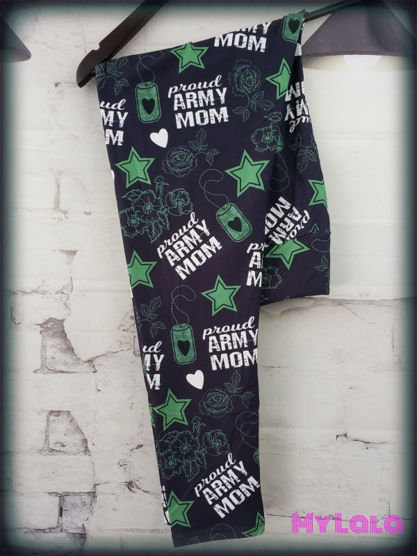 Yoga Band - Extra Curvy Proud Army Mom 20-26 (Premium) - My Lala Leggings
