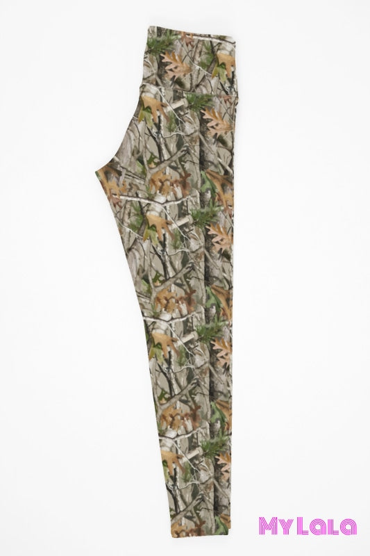 Yoga Band - Forest Camo Kids (Premium) - My Lala Leggings, soft leggings, buttery soft leggings, one size leggings
