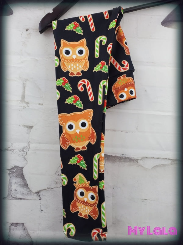 Yoga Band - Gingerbread Owls Kids (Premium) - My Lala Leggings, soft leggings, buttery soft leggings, one size leggings
