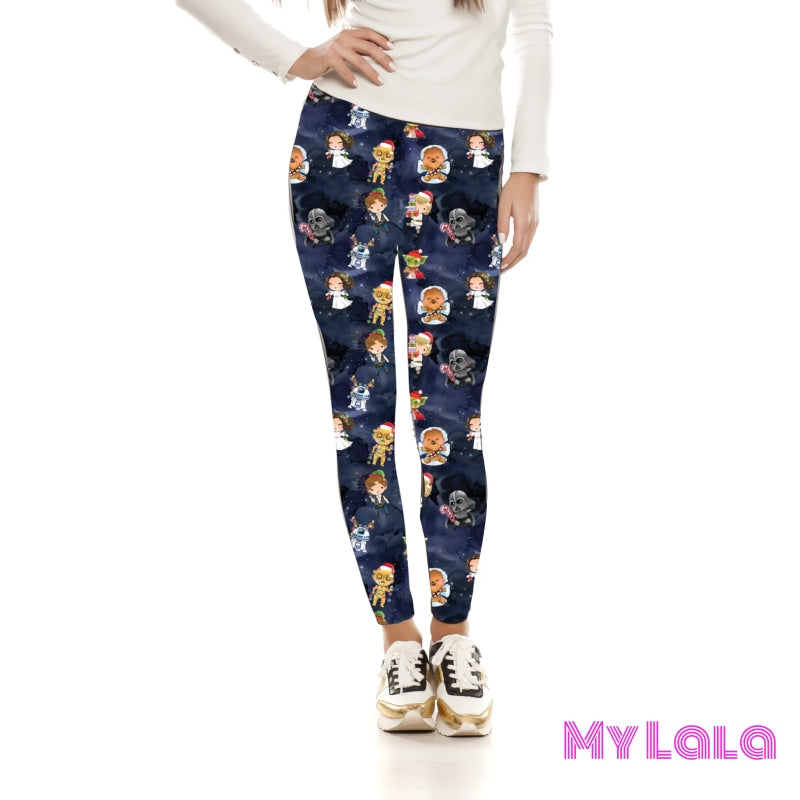 Yoga Band - Happy Holidays from Alderaan OS (Premium) - My Lala Leggings, soft leggings, buttery soft leggings, one size leggings