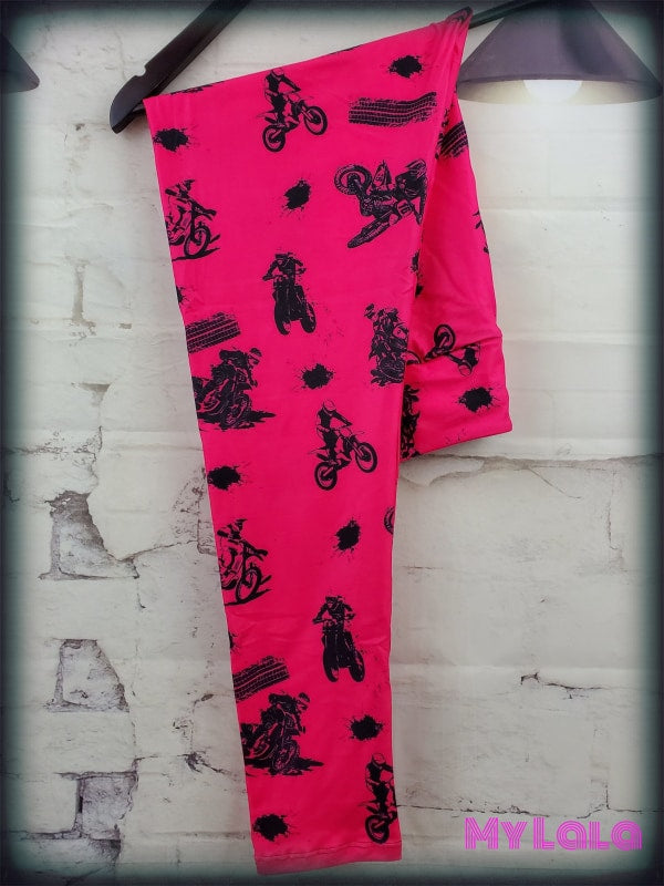 Yoga Band - Hot Pink Dirt Bike OS (Premium) - My Lala Leggings, soft leggings, buttery soft leggings, one size leggings