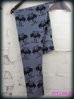 Yoga Band - Mother of Dragons OS (Premium) - My Lala Leggings, soft leggings, buttery soft leggings, one size leggings