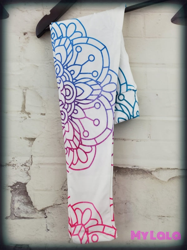 Yoga Band - White Mandala Kids (Premium) - My Lala Leggings, soft leggings, buttery soft leggings, one size leggings