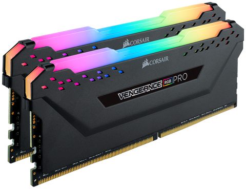Corsair 32GB kit (2x16GB) DDR4 3600MHz, Vengeance RGB PRO, Intel & AMD Optimized